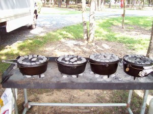 Dutch Oven Cook Table