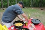 Striper preparing his recipe