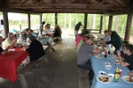 Enjoying the fellowship and Great Food.