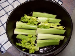 Celery in Dutch Oven