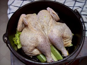 Butterflied Chicken Ready to Roast