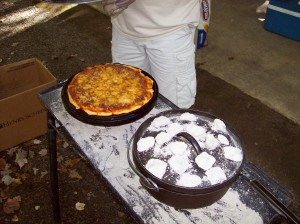 Pizza Baked in an Upside Down Dutch Oven