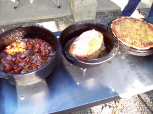 Dutch Ovens on Cook Table