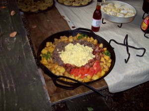 """22"""" Skillet with Home Fries, Bacon and Eggs"""